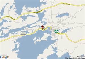 kenora canada map map of 8 motel kenora kenora