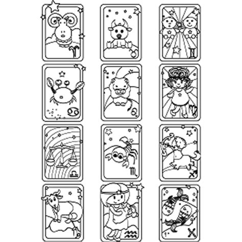 printable zodiac signs to color all signs zodiac coloring page