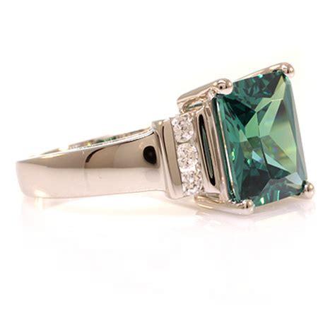 emerald cut alexandrite ring silverbestbuy