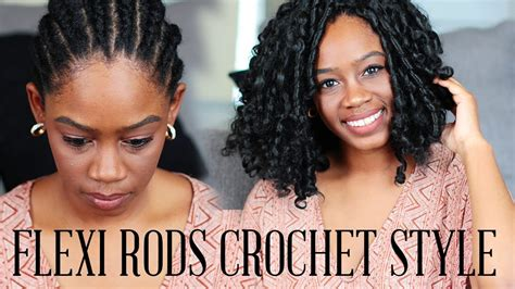 flexi rod with moouse braids how to flexi rod crochet braid w kanekalon hair