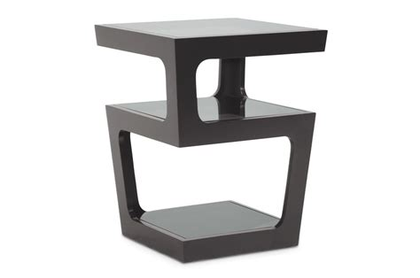 black side table with shelves baxton studio clara black modern end table with 3 tiered