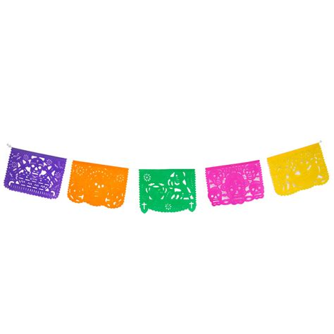 cadenas de papel para altar de muertos papel picado mexicano fiesta mexicana fantastik