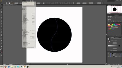 illustrator tutorial yin yang how to split objects using pen tool illustrator tutorial