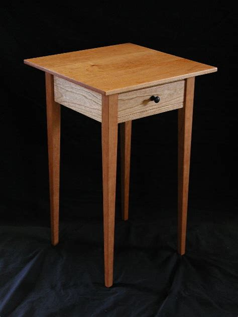 Handmade End Tables - cherry end table handmade in vermont