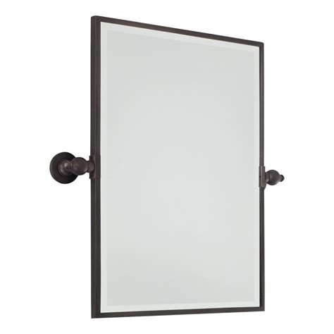 Pivoting Bathroom Mirror Minka Lavery 1440 267 Brushed Bronze Standard Rectangle Pivoting Bathroom Mirror