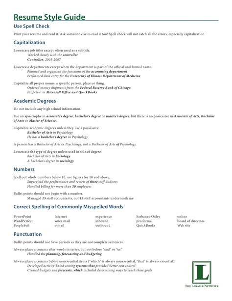 Resume Workshop by Resume Workshop Handout Packet