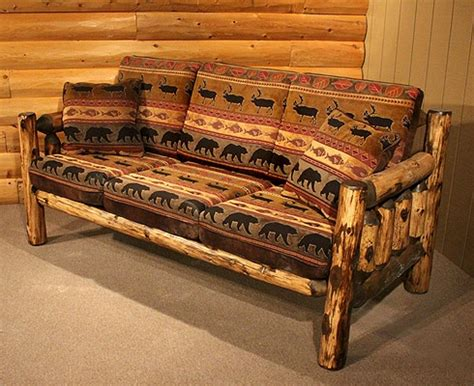 outstanding log living room furniture buck ridge rustic grizzly sofa living room pinterest
