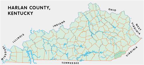 kentucky map harlan county harlan county kentucky kentucky atlas and gazetteer
