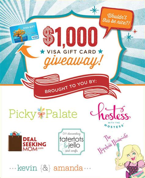 10 News 1000 Giveaway - 1000 gift card giveaway ends 10 14 the hopeless housewife 174 the hopeless housewife 174