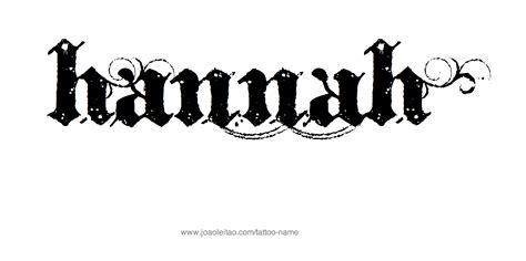 tattoo name hannah hannah name tattoo designs
