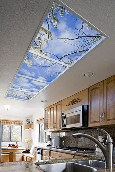 window in ceiling faux windows on ceiling fake window views pinterest