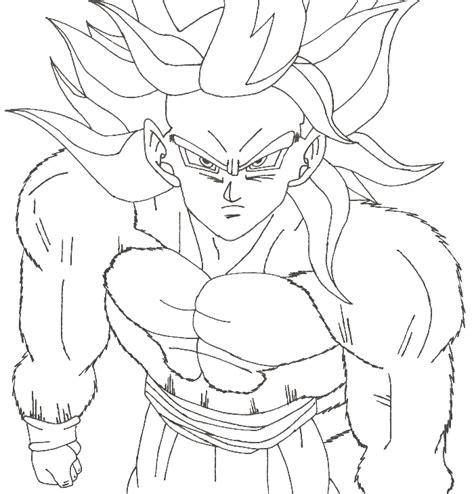 Goku Coloring Pages Super Saiyan 4 Coloringstar Goku Saiyan 3 Coloring Pages