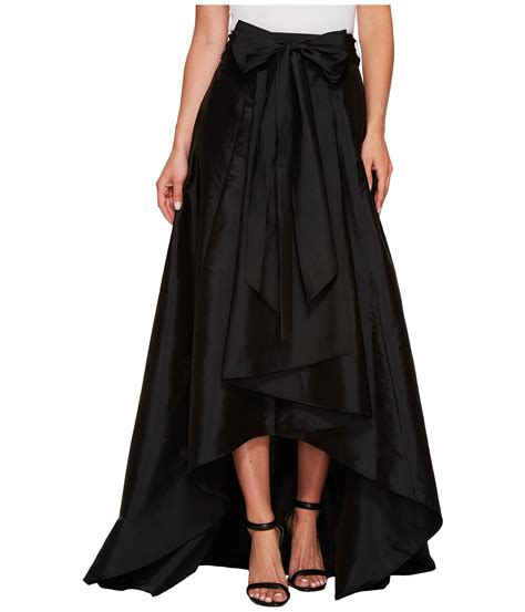 papell high low skirt black zappos
