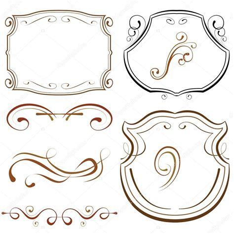 plantillas para diseos vector abstracto marcos con diseos para fotos conjunto de vectores marcos