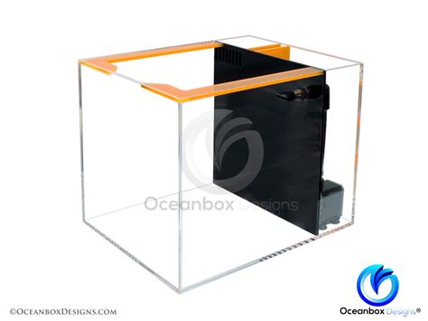 Nano 01 Box nano reefer 10 gallon signature aio aquarium oceanbox designs 174 oceanbox designs llc