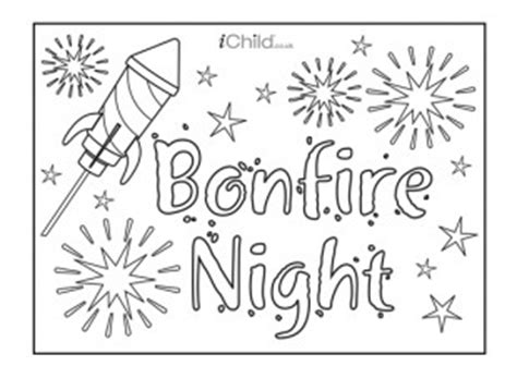 Bonfire Night Poster Can Be Decorated And Hung Up To Bonfire Colouring Pages