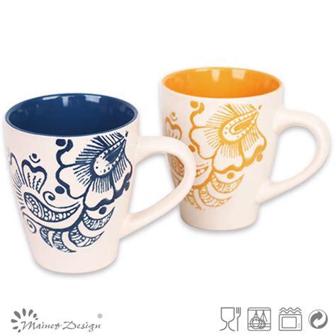 unique shaped coffee mugs stoneware ceramic v shape round number mugs buy unique