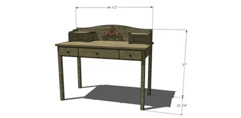 Plans To Build A Desk by Free Diy Furniture Plans To Build A Pottery Barn