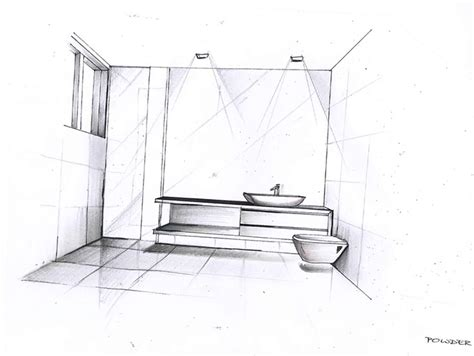 sketch of bathroom east brighton interior design synposis destination living
