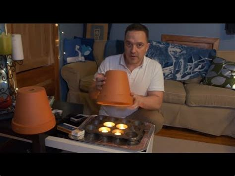 how to make a room warmer clay pot with tea lights room heating 4hr diy test