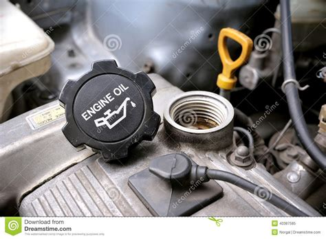 automotive motor engine oil cap stock image image of fuel automobile 40387585