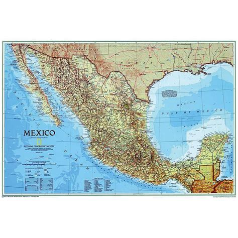 mexico map and mexico geographical map national geographic map mexico