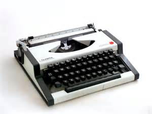 Vintage 60s Home Decor Vintage Manual Typewriter Black And White Traweller Olympia