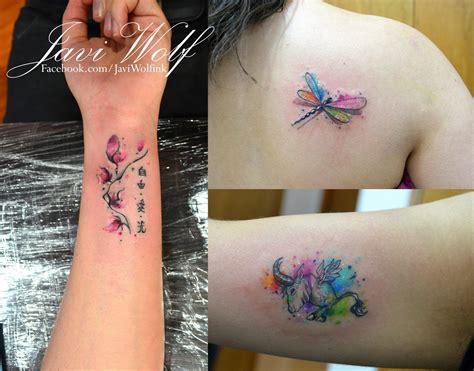 watercolor tattoo javi watercolor tattoos tattooed by javi wolf my