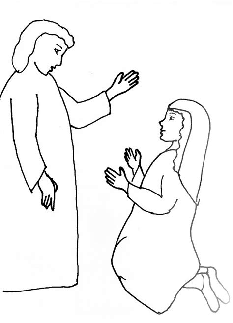 coloring page of angel visiting mary bible story coloring page for angel gabriel visits mary