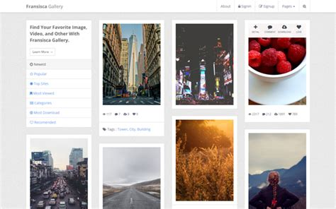 bootstrap templates for photo gallery avriqq wrapbootstrap