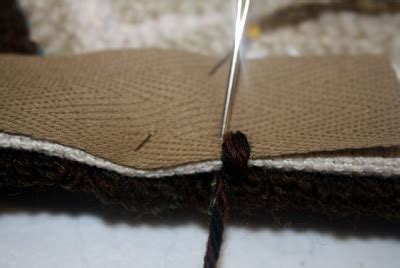 how to bind a hooked rug primitives by the light of the moon how i bind a hooked rug