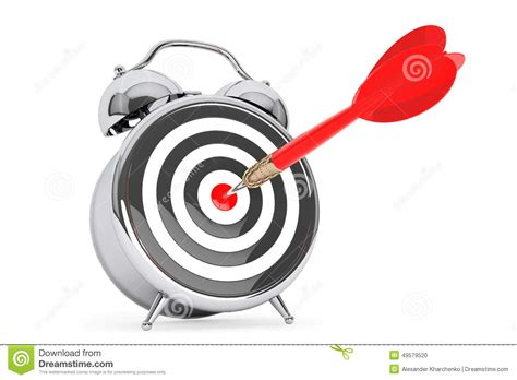 alarm clock with target and dart arrow stock illustration illustration of pause purpose 49579520