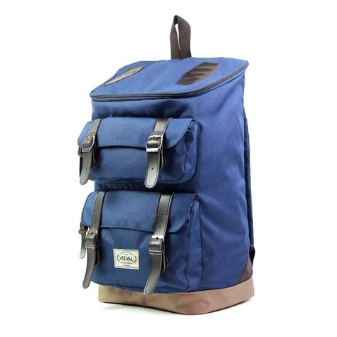 Backpack Tas Ransel tas backpack ransel visval majestic navy elevenia