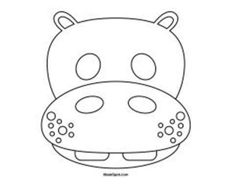 hippo mask template printable 93 best sarah s party ideas images on pinterest animal