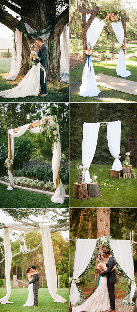 Wedding Arch Ideas by 25 Chic And Easy Rustic Wedding Arch Ideas For Diy Brides