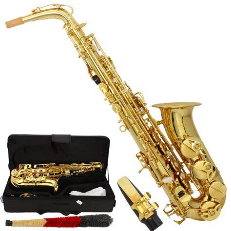 ebay saxophone mbat professional alto eb saxophone sax gold w case