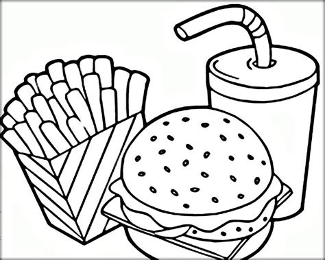 Free Coloring Pages For Kids And Adults Printable Fast Snack Coloring Pages