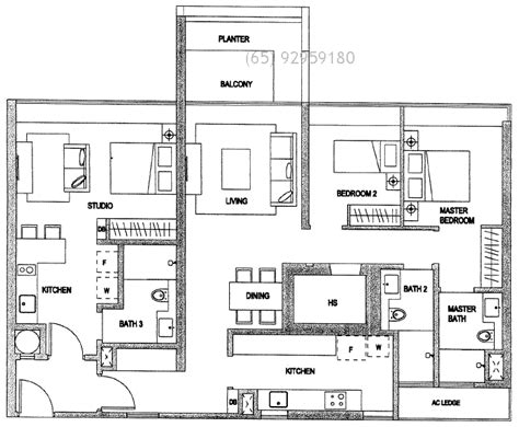 3 bedroom unit floor plans condo floor plans type dk three bedroom dual key unit