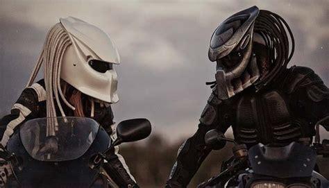 A Predator On Our Streets predator motorcycle helmet dreads ridin spooky santa