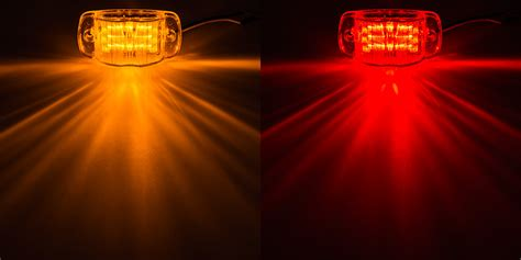 led trailer marker lights rectangular led truck and trailer lights 4 pc rated led