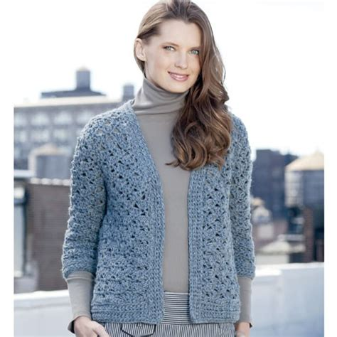 crochet cardigan 3 4 sleeve cardigan crochet pattern