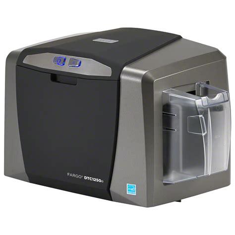 printers for card fargo dtc1250e id direct to card printer encoder card