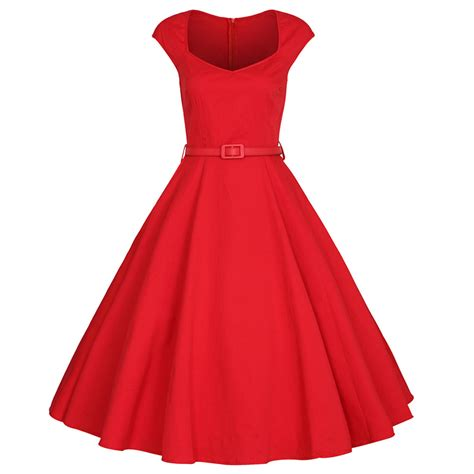 red swing dress vintage womens cap sleeves 1950s 60s vintage dress audrey hepburn