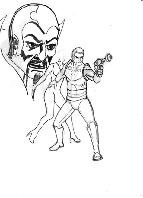 flash gordon pages printable coloring pages