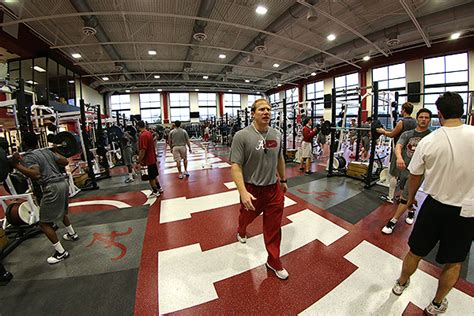 alabama weight room new weight room weapon at alabama crimson tide s disposal
