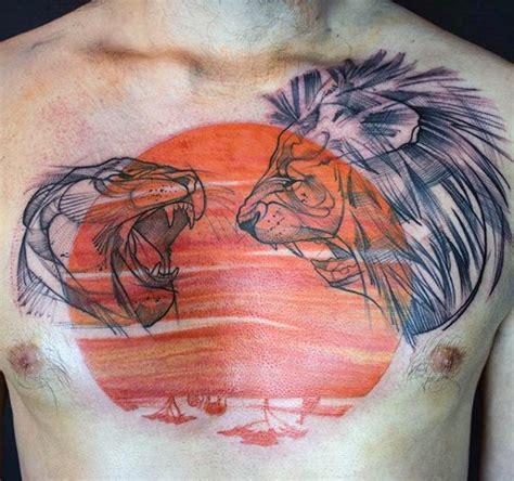 unique tattoo on chest 50 unique chest tattoos for men masculine design ideas