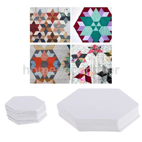 Hexagon Shapes For Patchwork - 200pcs hexagon shape blank paper quilting templates