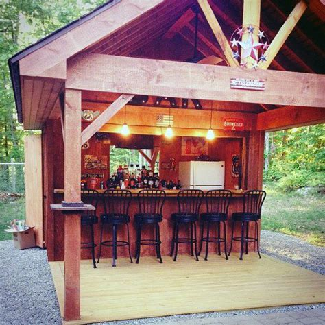 pub shed bar ideas  men cool backyard retreat