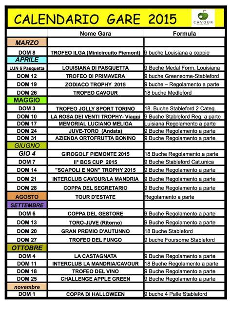 I Calendario Gae Pineroloplay It Calendario Gare 2015 Per Le