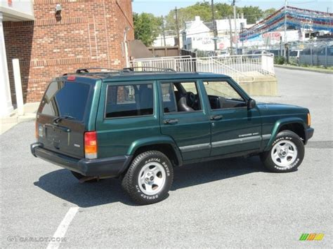 2001 Green Jeep Forest Green Pearlcoat 2001 Jeep Sport Exterior